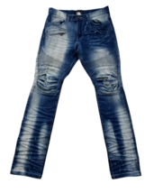 Smoke Rise Moto Jeans Distressed with Articulated Knees Men's Size 36x34 - $26.91