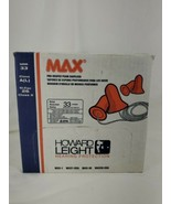 100 pack HOWARD LEIGHT MAX-30 EAR PLUGS WITH CORD NRR33 HEARING PROTECTI... - $17.82