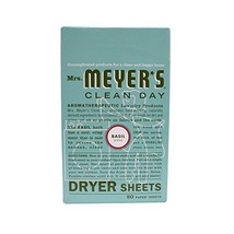 Mrs. Meyer's Clean Day Dryer Sheets, Basil, 80 ct - $9.33