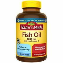 Nature Made Fish Oil 1200 mg Softgels - 100ct. Mar. 2022 - $4.25