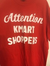 Red Attention Kmart Shoppers t-Shirt tee Mens Size SMALL VINTAGE  - $18.69