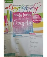 Crayola Calligraphy, a Beginner's Guide to Hand-Lettering [Staple Bound]... - $6.29