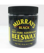MURRAY'S BLACK BEESWAX WITH 100% PURE AUSTRALIAN BEESWAX SEALS CONDITION... - $2.56
