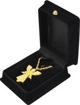 """Gold Angel Pendant w/20"""" chain & black velvet display box - $149.99"""