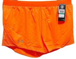"Under Armour Women's Size Large Loose Fit Shorts 3"" Inseam HeatGear Orange - $19.75"