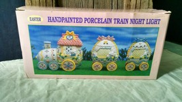 Easter Train Night Light ~ Hand painted Porcelain ~ Spring, Easter, Deco... - $18.80