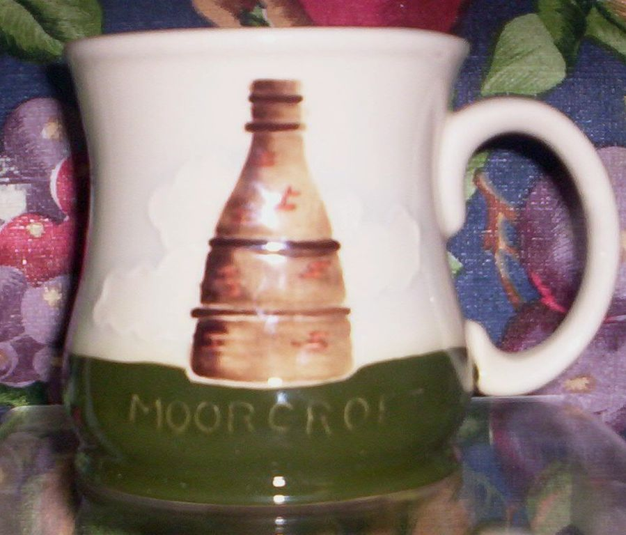 ENGLISH STAFFORDSHIRE ART POTTERY-- MOORCROFT MUG - $124.95