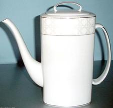 Kate Spade Carling Way Coffee Pot Platinum Trim 52 oz. $260 New In Box - $109.90