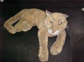 """24"""" Rare Folkmanis Cougar Hand Puppet Plush Stuffed Toy Retired and Very Rare - $148.49"""