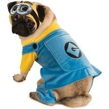 RUBIES DESPICABLE ME 2 MINIONS DOG HALLOWEEN PUPPY ANIMAL COSPLAY COSTUM... - $15.09