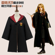Hot! Magic School Academia Black Cloak Cosplay Magic Robe Cloak Costume - $25.50