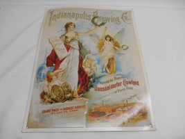 Old Vintage INDIANAPOLIS BREWING CO. METAL ADVERTISING SIGN Collectibles - $19.79