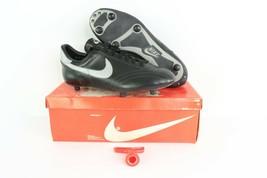 NOS Vintage 80s Nike Euro Match Detachable Soccer Cleats Black Leather M... - $59.35