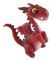 Top Collection Miniature Fairy Garden and Terrarium Mini Dragon Statue, Red - $10.54