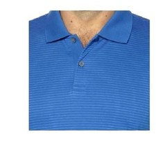 Calvin Klein Men's Polo Short Sleeve Shirt Top    Brazilian Blue Stripes Sz M L - $19.79
