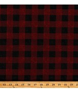Cotton Red and Black Plaid Patterned Cotton Fabric Print by the Yard (D3... - $10.95