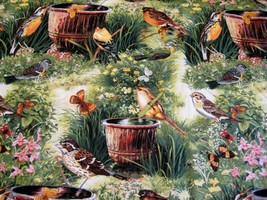 fabric Michael Miller Bird Sipping  quilting craft general sewing by th... - $12.00