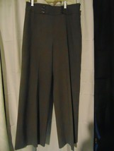 ANN TAYLOR LOFT Sz 12P pants women's gray dress trousers work career - $13.86