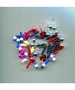 bead drop charms, bead pendants, 40 piece bead charms drops glass plasti... - $2.50