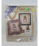 Folk Art Angel Counted Cross Stitch Dimensions Simple Pleasures kit w/ m... - $5.93