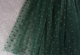 DARK GREEN Tutu Skirt Women Midi Tutu Skirt Dark Green Dot Party Skirt Plus Size image 3