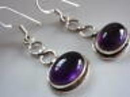 9ct Amethyst Ovals under Figure-8 925 Silver Earrings - $16.82
