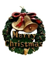 Merry Christmas Wreath and Golden Bells Ornament Party Favors - $4.49