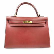 Hermes Kelly 30 Wine Color Leather Ladies Handbag - $15,500.00