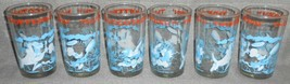 Set (6) 1974 Warner Brothers THUFFERIN' THUCCOTASH 8 oz Character Glasses  - $39.59