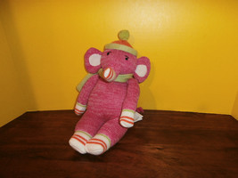 "Pink Elephant Sock Monkey Magnetic Feet Hands Seasons Of Cannon Falls 12"" - $16.44"