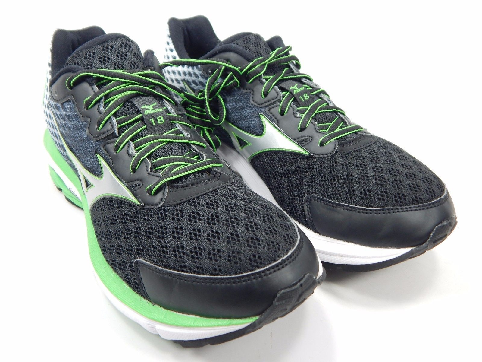 official photos 81a64 51166 Mizuno Wave Rider 18 Men's Running Shoes Size US 8.5 M (D) EU 41 Black White