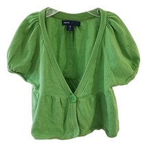 Gap Brand Girls Kids Children Top Sweater Cardigan Size 8 Green Short Sl... - $18.00