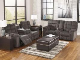MARINO Modern Living Room Furniture Gray Fabric Recliner Sofa Couch Loveseat Set