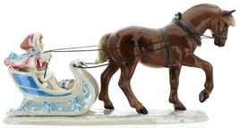Hagen-Renaker Specialties Ceramic Christmas Figurine Horse Drawn Sleigh image 7
