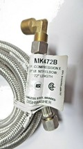 """Dishwasher MK472B Stainless Steel Braided Connector 3/8"""" Pack of 2 New image 2"""