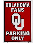Oklahoma Fans Parking Only Aluminum Wall / Man-cave Sign 1 - $19.15