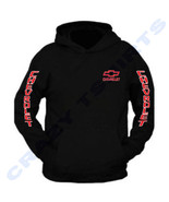 RED CHEVROLET CHEVY Chest and Arm Hoodie Sweatshirt S to 2XL - $34.64+