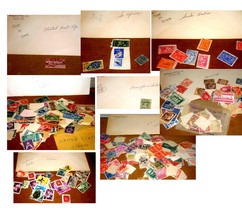 40 ENVELOPES OF COLLECTORS OLDER STAMPS FROM AROUND THE WORLD - $49.99