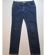 What's Hot Skinny Medium Wash Stretch Denim Jeans Size 9 Rhinestones Poc... - $18.99