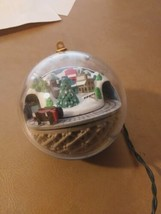 1988 Hallmark Ornament With Train The Connects To Lights - $5.81