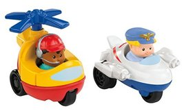 Fisher-Price Little People Wheelies Jet and Helicopter - $17.82