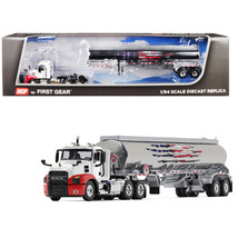 Mack Anthem Day Cab with 42 Fuel Tank Trailer 1/64 Diecast Model by DCP/... - $77.32