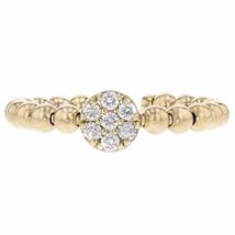 0.70ct Round Cut Diamonds 14k Yellow Gold Ribbed Midi Ring - £732.56 GBP
