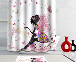 Hroom curtain pink butterfly woman polyester fabric waterproof shower curtains 1pc thumb155 crop