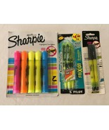 Sharpie and Pilot FriXion Erasable Highlighters Assorted Smear Guard Chi... - $6.99
