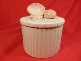 "5"" Tall,  Porcelain, Sea Shell Trinket Box,. Made by Fitz & Floyd 1981 - $19.99"