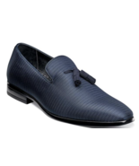 Stacy Adams Men's Tazewell Plain Toe Tassel Slip On Navy 25343-410 - $93.81 CAD