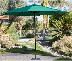 11 ft Solid Wood Market Umbrella Mahogany with Brass Hardware and Dual P... - $127.87