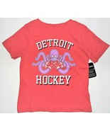 NHL Toddler Boys or Girls Detroit Hockey T-Shirt Red Wings Octopus Size ... - $16.48