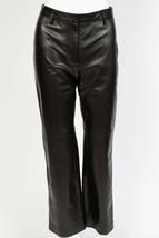 NWT Ann Taylor Black Leather Dress Pants $279 sz 4 - 6 4P - 6P NEW - $128.25